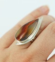 sterling silver condor agate ring
