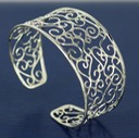 large filigree sterling silver cuff
