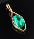 green victoria stone wire wrapped sculpted 14k gold filled pendant jewelry cabochon