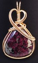 eudialite eudialyte wire wrapped sculpted 14k gold filled cab cabochon pendant jewelry