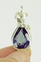 faceted alexandrite wire wrapped sculpted sterling silver cab cabochon pendant jewelry