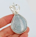 angellite cabochon sterling silver wire sculpted wrapped pendant