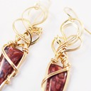 jasperilla wire wrapped sculpted 14k gold filled cab cabochon earrings jewelry