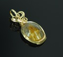rutilated quartz wire wrapped sculpted 14k gold filled cab cabochon pendant jewelry